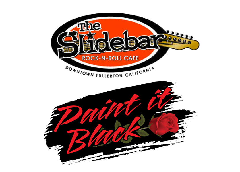 The Slidebar presents one night only Paint it Black!